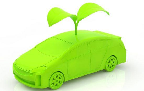 リサイクルをイメージした車