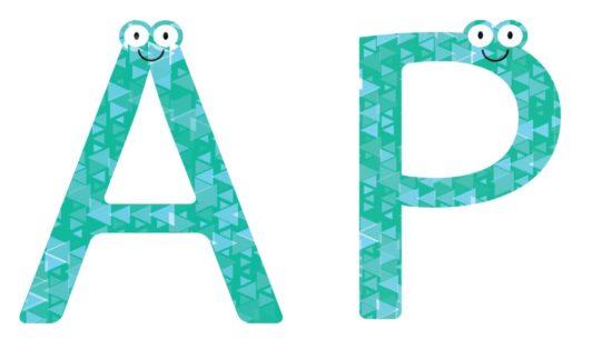 アルファベットのAとP