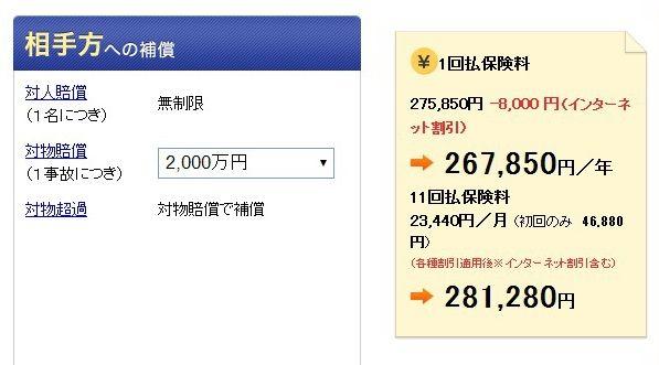 2000万円の場合