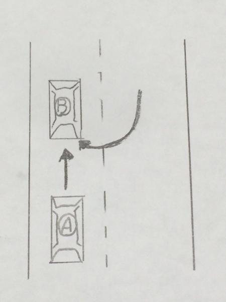 転回車(Uターン車)や道路外からの出入車と事故を起こした場合の過失相殺例