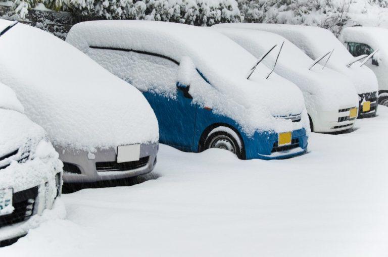 雪と自動車