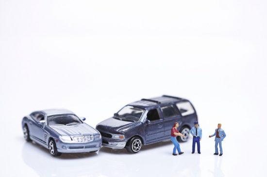 交通事故で車が故障