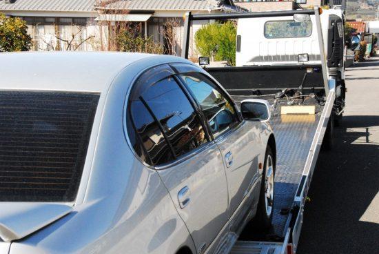 修理完了後に納車される車