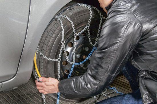 タイヤチェーンの装着