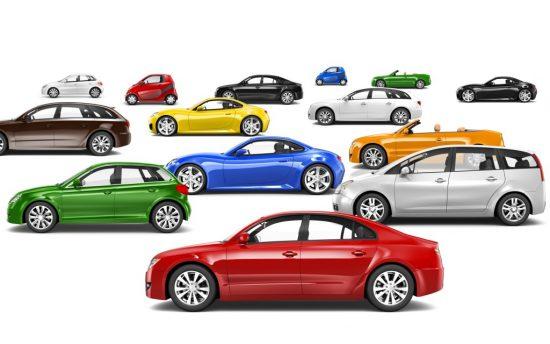 色々な色の車