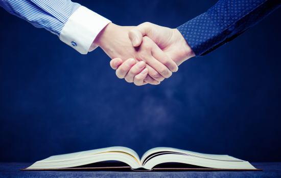 握手(合併時のイメージ)