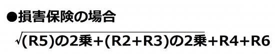 ソルベンシーマージン比率のリスク計算式