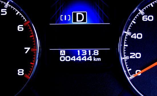 車の走行距離メーター