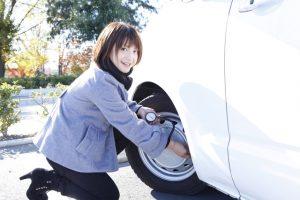 タイヤの空気圧チェック