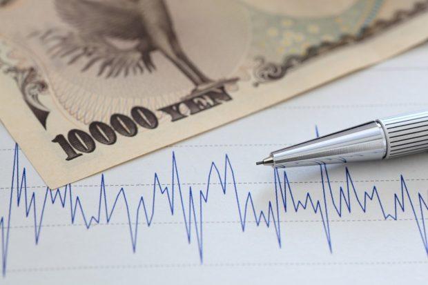 変動するグラフとお金