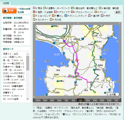 伊豆半島ドライビングコース詳細