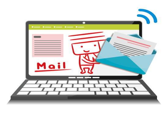 PCメールのイメージ図
