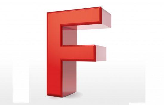 アルファベットの「F」