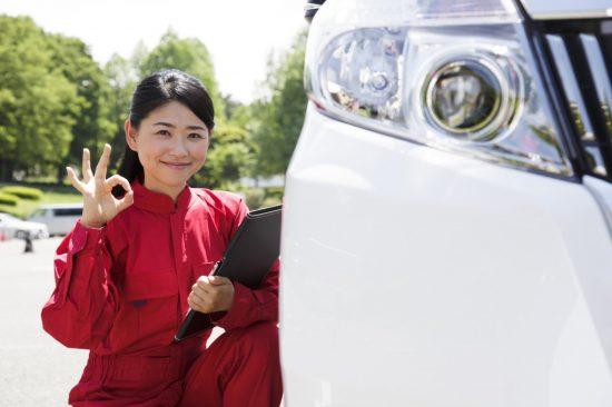 ロードサービスの女性スタッフ