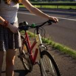 パンクした自転車