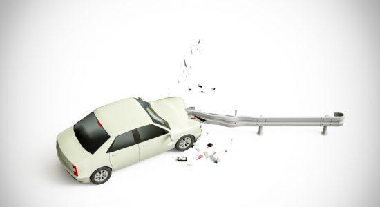 ガードレールに車をぶつけてしまった