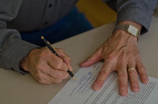 同意書-署名