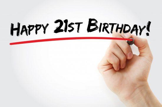 21歳の誕生日