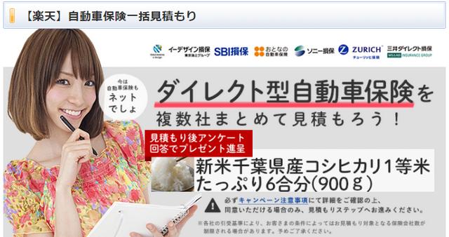 楽天自動車保険キャンペーンページ